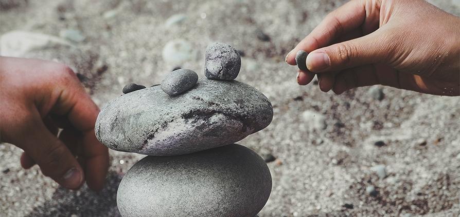 Meditatie stenen